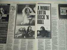 LED ZEPPELIN A WHOLE LOTTA ROCK AND ROLL 1972  2 page UK  ARTICLE / clipping