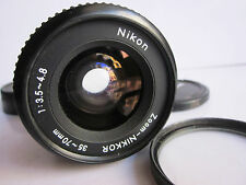 Nikon Zoom-Nikkor 35-70mm f3.5-4.8 Macro Manual Focus AIs Lens Caps & filter