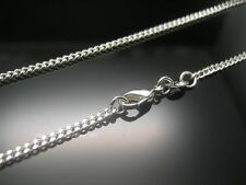 New!  5pcs 925 solid Silver Curb Type Chain Necklace Fashion Jewelry 18 inch
