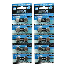 20PCS AG10 LR54 189 387 389 390 LR1130 1.5V Alkaline Button Cell Battery HyperPS