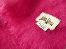 "NEIMAN- MARCUS FUSHIA HOT PINK MOHAIR THROW BLANKET  66"" X 54"" MADE IN ENGLAND"