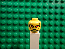Lego mini figure 1 Yellow head with face and red eyes #19