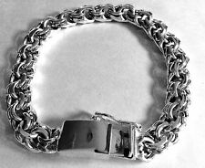 "11MM 925 STERLING SILVER MEN'S SOLID double CUBAN LINK BRACELET LENGTH:8"",8.5.9"""