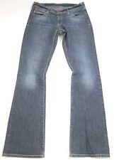 EVISU Jeans **PUMA** Mid Rise Boot Cut Silver Puma Stretch SIZE 27 x 31