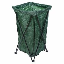 Garden Waste Rubbish Bag Metal Stand Large Standing Reuse Collapsible Sack