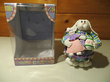 Collectible Glass and Resin Blue & Yellow Easter Bunny Decoration