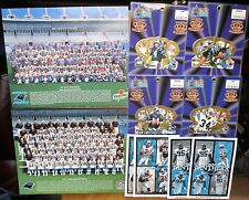 Carolina Panthers lot 87 team issues pictures King B poster samples badges misc