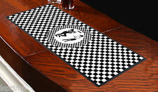 SKA BLACK AND WHITE CHECKED BAR RUNNER IDEAL FOR PARTYS FOR ANY OCCASION