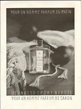 PUBLICITE CARON PARFUM PERFUME POUR UN HOMME 1949