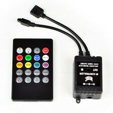 NEW 20key Music Remote IR Controller Sound Sensor  For 3528 5050 RGB LED Strip