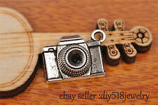7s 21mm charm 3D camera pendant DIY Jewelry Bead Fit Bracelet Tibet Silver 7231