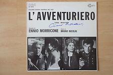 """Ennio Morricone autógrafo signed LP-cover """"Soundtrack-l 'avventuriero"""" vinilo"""