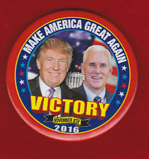 TRUMP - PENCE VICTORY NIGHT PIN 2016 ELECTION VERY COLORFUL