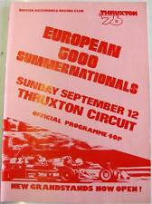 THRUXTON BARC Europeo 5000 12th SEP 1976 MOTOR RACING PROGRAMMA UFFICIALE