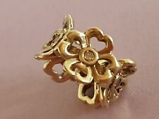 Michael Hill Emma & Roe 10ct Gold Diamond Flowers Charm SKU 11226253 rrp 349