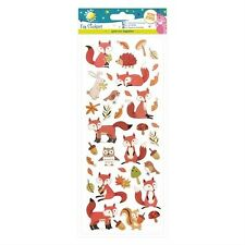 Craft Planet Fun Stickers - Woodland Creatures - Fox, Owl - Craft Embellishments