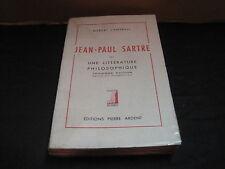 Robert CAMPBELL: Jean Paul Sartre ou une littérature philosophique. Envoi