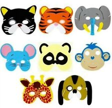 8x childrens,kids Foam Animal masks Dressing up Party bag fillers Jungle partys