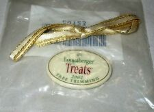 Longaberger Christmas Tree Trimming TREATS Basket Ceramic Tie On ONLY