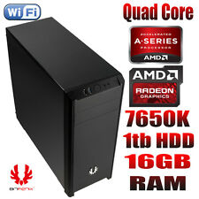 AMD Quad Core 16gb RAM 1tb HDD PC Desktop grafica r7 Windows 10 PRO 64bit
