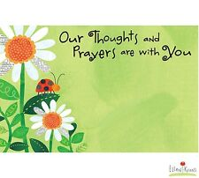 """50ct. """"OUR THOUGHTS & PRAYERS"""" Sympathy Blank Florist Enclosure Cards Small Tags"""