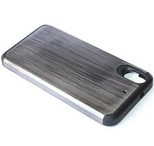 For HTC Desire 626 626S- HARD TPU GUMMY RUBBER HYBRID ARMOR CASE COVER GRAY WOOD