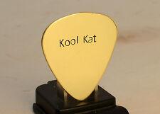 Kool Kat Brass Guitar Pick Handmade for Groovy Vibes