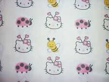 CLEARANCE FQ SANRIO HELLO KITTY BUMBLEBEE LADYBIRD FLOWERS FABRIC KITSCH