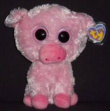 "TY BEANIE BOOS BOO'S - CORKY the 9"" PIG with TAGS - PLEASE READ"