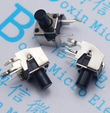 100pcs Momentary Tactile Tact Push Button Switch 6x6x8mm Right Angle 2 Pins