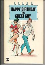 HAPPY BIRTHDAY TO A GREAT GUY ~ TROPHY 1976 UK 1 PANEL COMIC CARTOON BRUCE DAY +