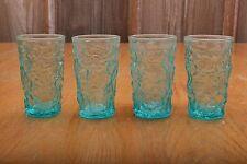 4 Vintage Blue Crackle Drinking Short Glasses