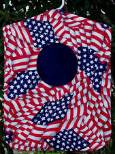 Clothes Pin Bag Holder American Flag Hole Handmade Laundry Patrioticl Bag