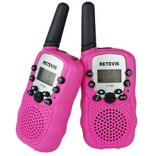 PINK Retevis RT388 Twin Walkie Talkies UHF LCD Flashlight PMR446 2-Way Radios UK