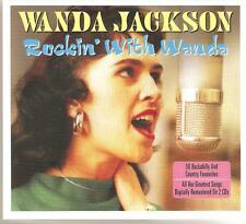 WANDA JACKSON ROCKIN' WITH WANDA - 2 CD BOX SET - LET'S HAVE A PARTY & MORE