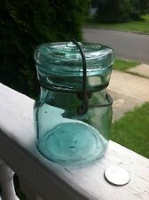 Rare Antique Fruit Jar 1/2 Pint Lightening No Embossing L On Base Only See