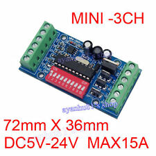 Mini 3Channel DMX512 Decoder15A RGB Controller LED Stage lighting Driver Board K
