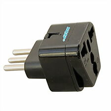 HQRP Portable Italian Grounded Universal Travel Plug Adapter 110V-240V