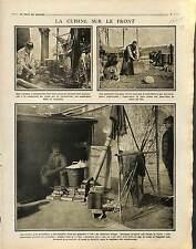 Cuisine de Campagne Cuistos Repas Poilus Tranchée Bataille de la Somme 1915 WWI