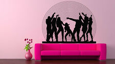 Wall Art Vinyl Sticker Room Decal Mural Decor Disco People Dancing Party bo2351
