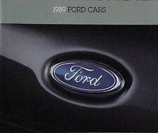 1989 FORD CARS USA RANGE SALES BROCHURE TBIRD TAURUS PROBE MUSTANG TEMPO ESCORT