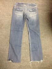 Jimmyz Low Rise Straight Leg Size 7/8 Jeans Destroyed Look Flaw Cut Leg