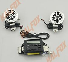 FM Radio MP3 Stereo Handlebar Audio System 2 Speaker for Yamaha Motorcycle Bike