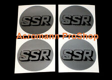 "4x 2.2"" 5.5cm 55mm SSR cap decal sticker center wheel alloy hub rim sp1 type c f"