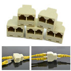 5 X RJ45 CAT5 6 Ethernet LAN Port 1 to 2 Socket Splitter Connector Adapter PC