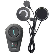 500m BT Bikers Wireless Helmet Intercom System Bluetooth Motorcycle Headset +FM