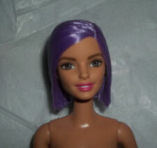Barbie Fashionistas Violet Purple Straight Hair Nude Doll