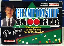 VINTAGE 1986 CHAMPIONSHIP SNOOKER BOARD GAME STEPHEN HENDRY BY BERWICK