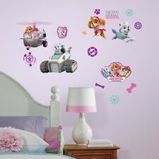 PAW PATROL SKYE Girl Pups 30 Peel & Stick Wall Decals Girls Puppy Room Stickers