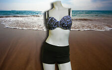 NWT GOTTEX PROFILE Bra Top BOY SHORTS swimsuit BATHING SUIT SZ - 32 D - 8
